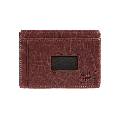Quip Card Case Cognac Wine Insert