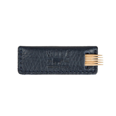 Toothpick Holder Office WillLeatherGoods Navy