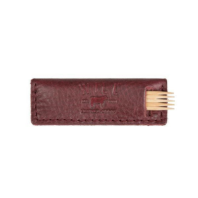Toothpick Holder Office WillLeatherGoods Oxblood