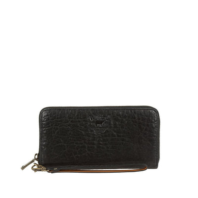 Alix Zip Around Clutch Wallet WillLeatherGoods Black
