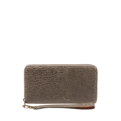 Alix Zip Around Clutch Wallet WillLeatherGoods Grey