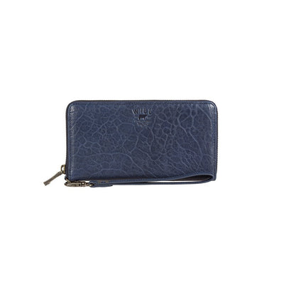 Alix Zip Around Clutch Wallet WillLeatherGoods Navy