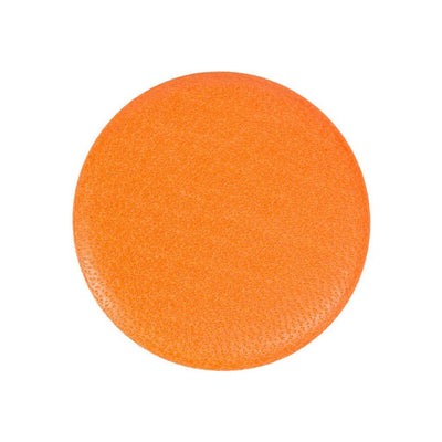 Leather Button Orange