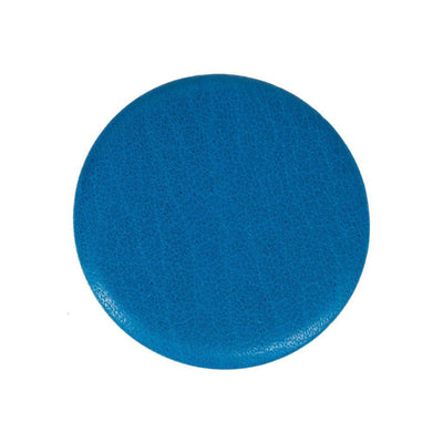 Leather Button Turquoise