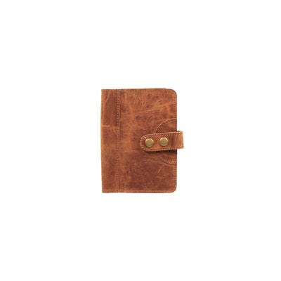 Glossy Leather Journal Cover Office WillLeatherGoods Small Tan