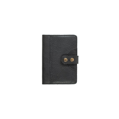 Leather Journal Cover Office WillLeatherGoods Small Black