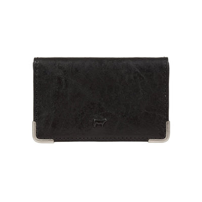 William Business Card Case Wallet WillLeatherGoods Black
