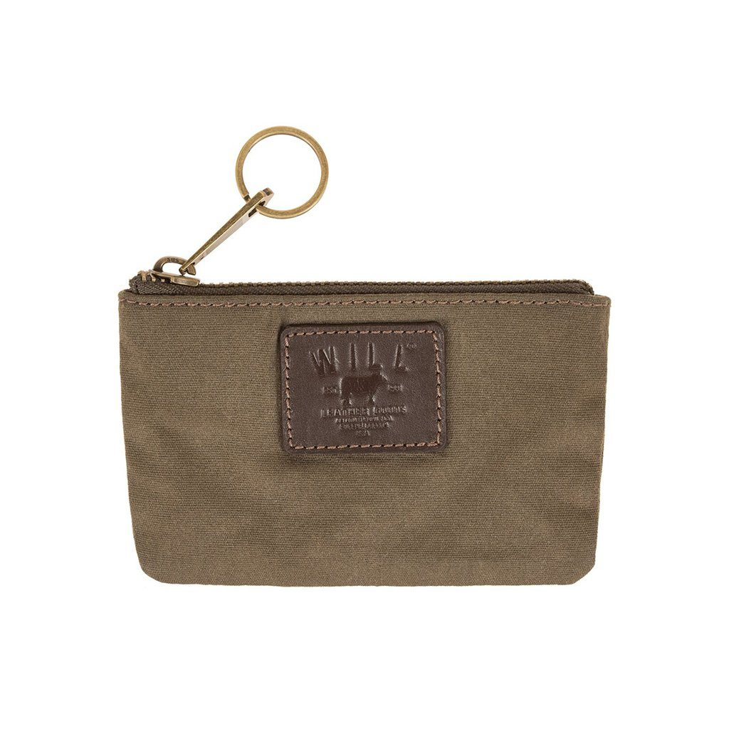 Olive Canvas Mt. Hood Small Flat Pouch