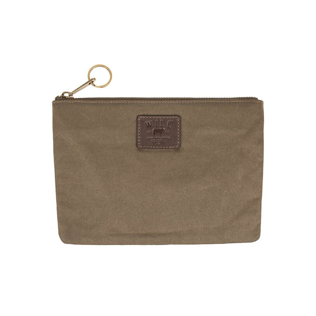 Olive Canvas Mt. Hood Large Flat Pouch