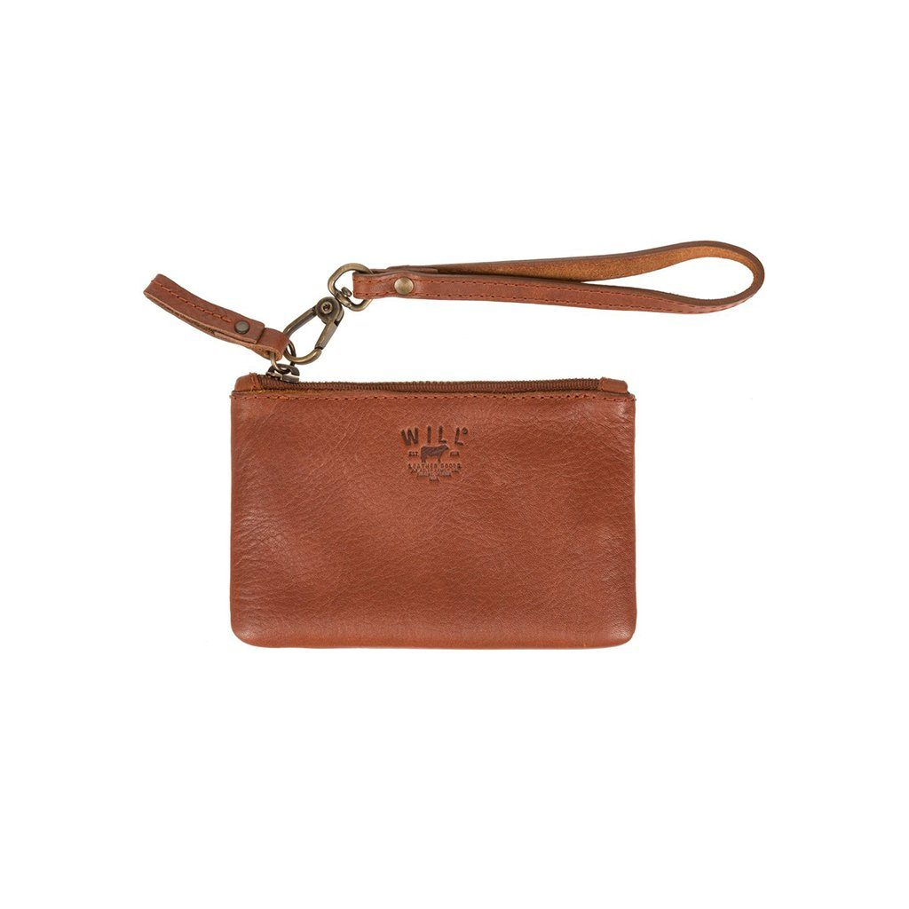 Signature Leather Small Flat Pouch
