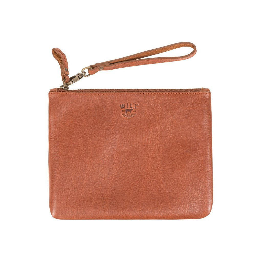 Signature Leather Large Flat Pouch