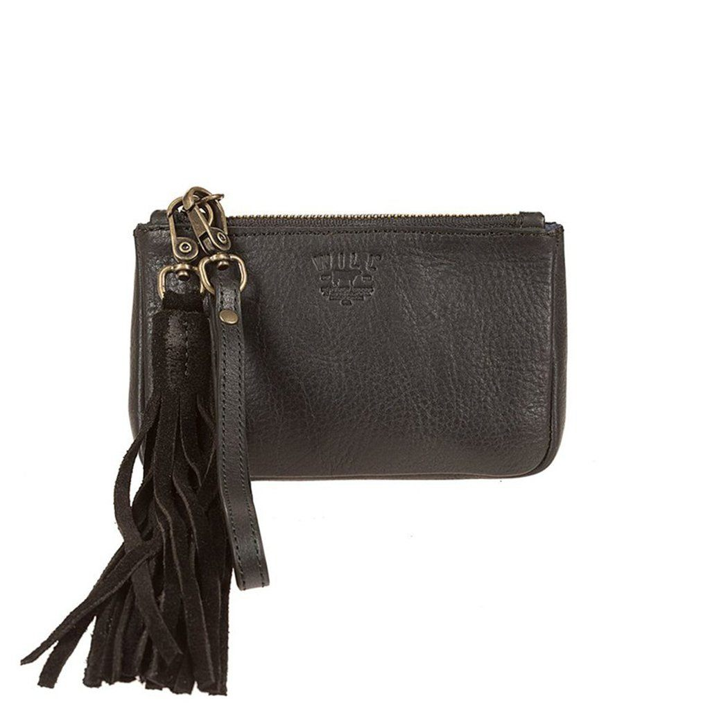 Signature Leather Small Gusseted Pouch