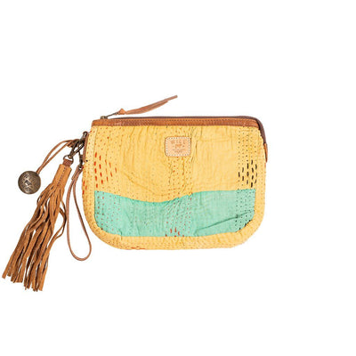 Kantha Large Gusseted Pouch