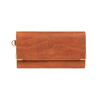 Accordion Wallet Cognac With Metal Corners