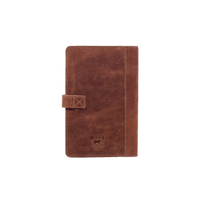 Glossy Leather Journal Cover Office WillLeatherGoods