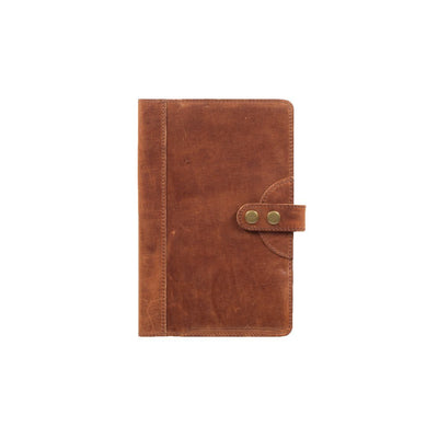 Glossy Leather Journal Cover Office WillLeatherGoods Medium Tan
