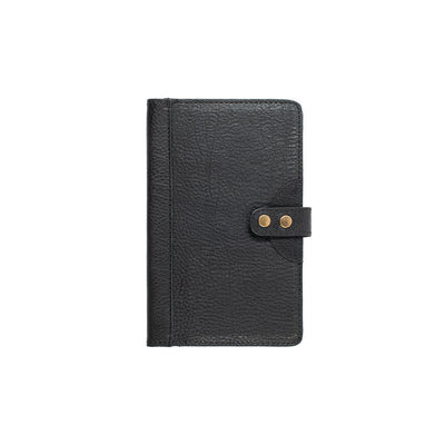 Leather Journal Cover Office WillLeatherGoods Medium Black