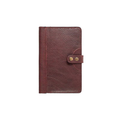 Leather Journal Cover Office WillLeatherGoods Medium Oxblood