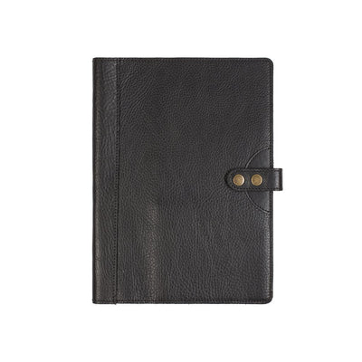 Signature Journal Cover Original Office WillLeatherGoods Black Large