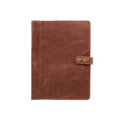 Glossy Leather Journal Cover Office WillLeatherGoods Large Brown