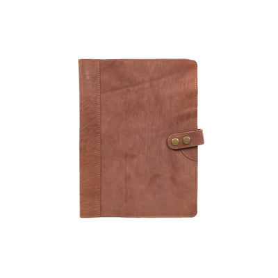 Italian Leather Journal Cover Office WillLeatherGoods Large Light Brown