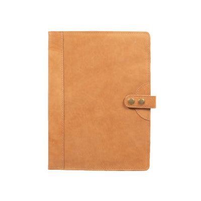 Italian Leather Journal Cover Office WillLeatherGoods Large Natural