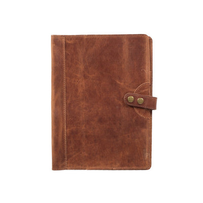 Glossy Leather Journal Cover Office WillLeatherGoods Large Tan