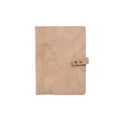 Italian Leather Journal Cover Office WillLeatherGoods Large Taupe
