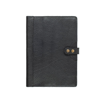 Leather Journal Cover Office WillLeatherGoods Large Black