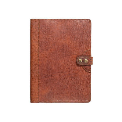 Leather Journal Cover Office WillLeatherGoods Large Cognac