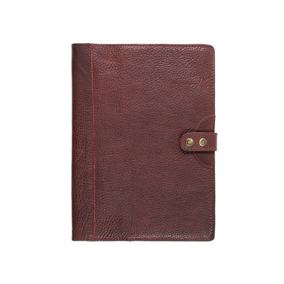Leather Journal Cover Office WillLeatherGoods Large Oxblood