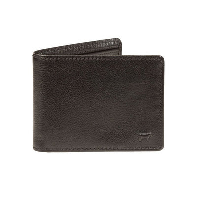 Black Classic Deluxe Billfold with small embossed cow in corner