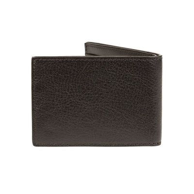 black leather classic slim billfold smooth leather back