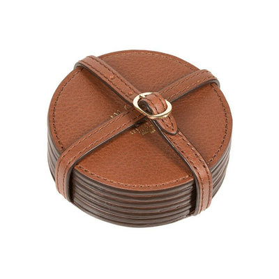 Cognac Classic Six Coaster Set