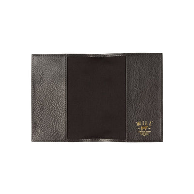 Black Classic Passport Case Open