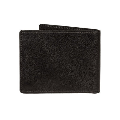 Black Classic Billfold with Interior Zip Pocket Back