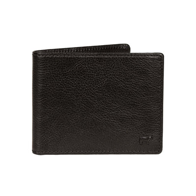Classic Billfold with Interior Zip Pocket Wallet WillLeatherGoods Black