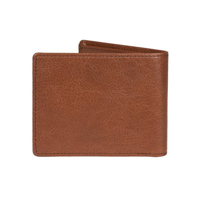 Back of Cognac Classic Interior Zip Wallet