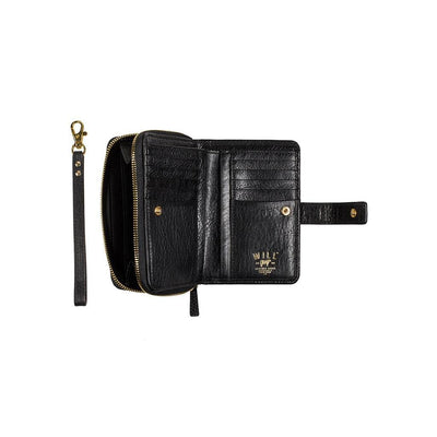 Classic French Wristlet Black Open