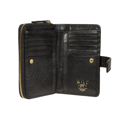 Classic French Wristlet Open Inside Card Slots