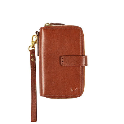 Classic French Wristlet Wallet WillLeatherGoods Cognac