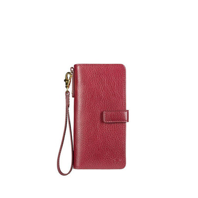 Classic Wristlet Clutch Wallet WillLeatherGoods Red