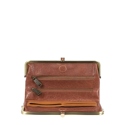 Her Double Frame Clutch Wallet WillLeatherGoods LAST CHANCE