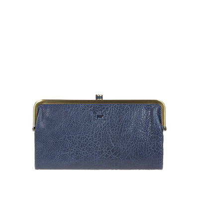 Her Double Frame Clutch Wallet WillLeatherGoods LAST CHANCE Navy