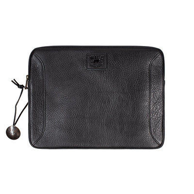 "13"" Leather Laptop Sleeve Office WillLeatherGoods 13"" Black"