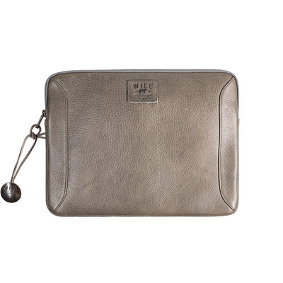 "13"" Leather Laptop Sleeve Office WillLeatherGoods 13"" Grey"