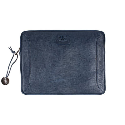 "13"" Leather Laptop Sleeve Office WillLeatherGoods 13"" Navy"