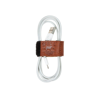 Cord Loop with Velcro Tech WillLeatherGoods Cognac