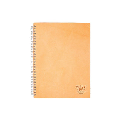 Leather Spiral Notebook Office WillLeatherGoods Natural