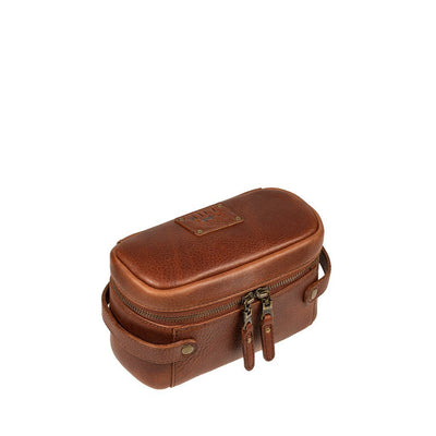 Small Desmond Leather Travel Kit Travel Kit WillLeatherGoods